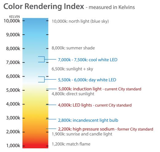 Light Intensity Scale