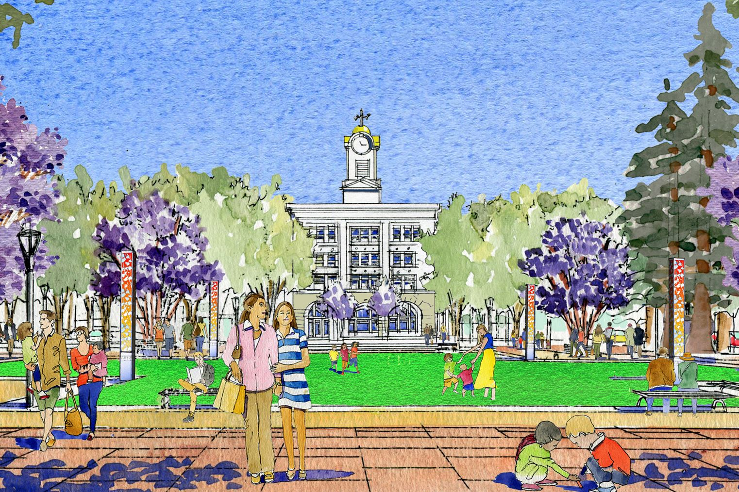 Old Courthouse Square rendering