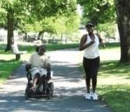 Residents Enjoying an Accessible Park