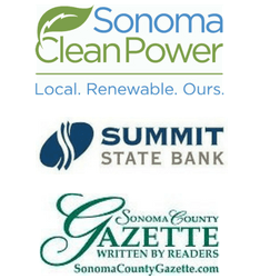 Gold Sponsors: Sonoma Clean Power, Summit State Bank and Sonoma County Gazette