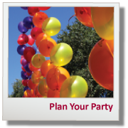 HP Plan Your Party Button