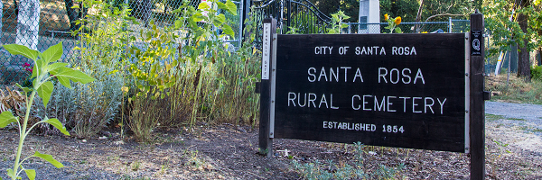 Santa Rosa Rural Cemetery Sign