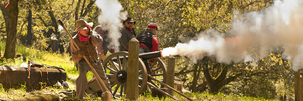 Civil War Cannon Shooting