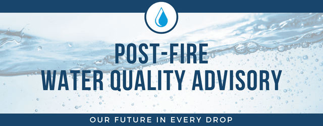 Post-Fire Water Quality Webpage