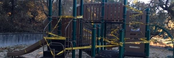 Rincon Ridge Playground Wrapped With Caution Tape