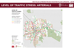 Level of Traffic Stress Arterials Map 2018