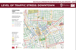 Level of Traffic Stress Downtown 2018