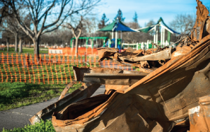 Fire-damaged Coffey Neighborhood Park