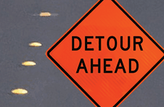 Road Detour News Flash