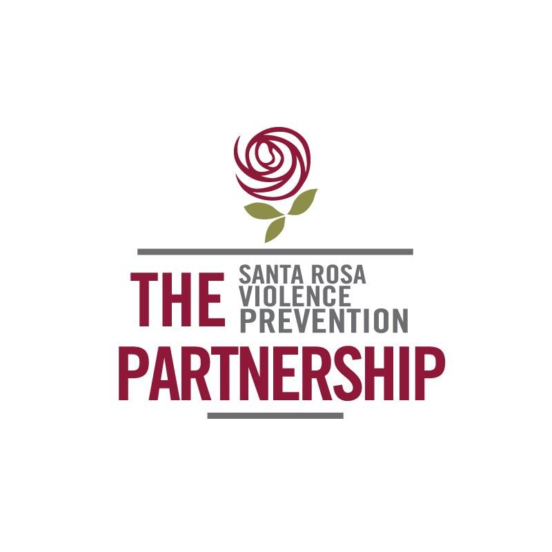 The Santa Rosa Violence Prevention Partnership with red rose above name