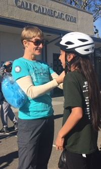 Sonoma County Bicycle Coalition Helmet Fitting