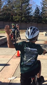 Sonoma County Bicycle Coalition Bike Skills Course Hand Signals