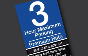 Premium Parking Zone Sign