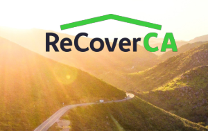 ReCoverCA logo over scenic photo of CA
