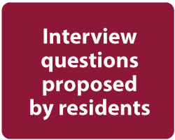 Click to view interview questions submitted by residents