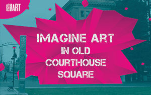 Imagine Art in Courthouse Square logo