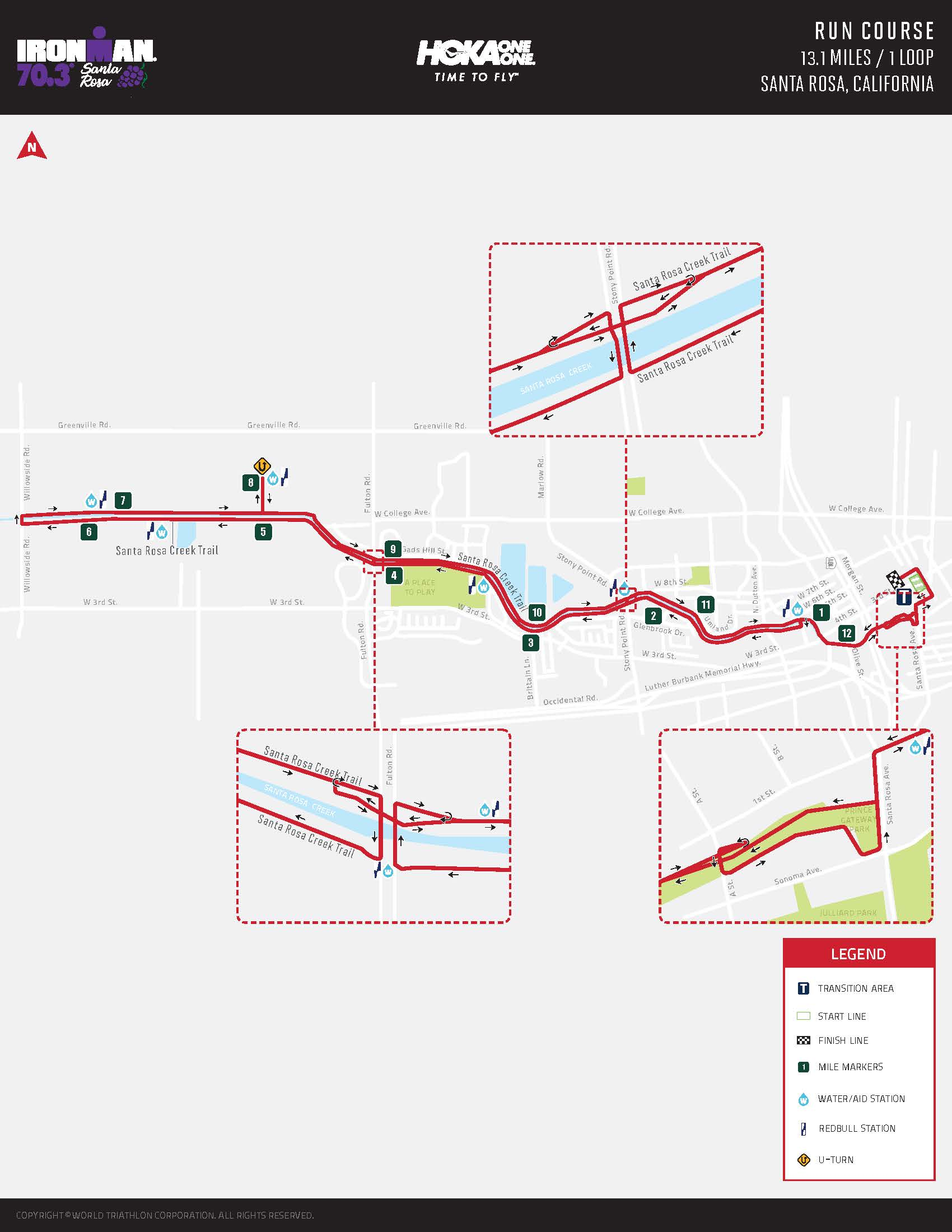 IRONMAN 70.3_2020_Run Course Map Page 1