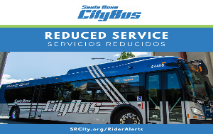 CityBus Reduced Service