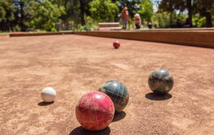 Bocce courts at Juilliard Park