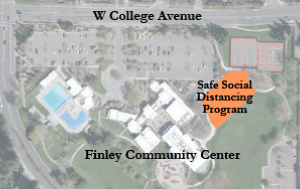 Finley Parking Lot Safe Social Distancing Program Aerial site map