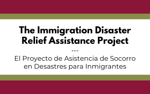 News Flash_Disaster Relief for Immigrants