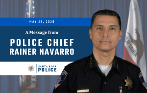 Message from Police Chief Rainer Navarro