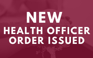 New Health Officer Order
