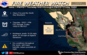 News Flash_Fire Weather Watch_9.29.20