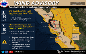 News Flash_Wind Advisory_1.25.21