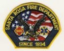 Santa Rosa Fire Department Patch