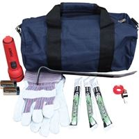 Example of an emergency kit.