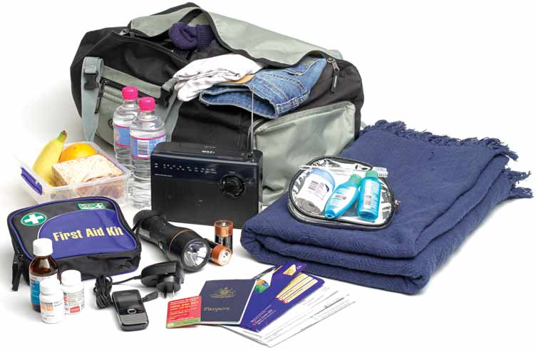 Personal supplies that should be included in an emergency kit.