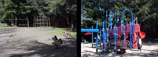 South Davis Street Playground Before and After