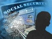 A fingerprint and Social Security card