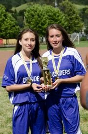 Soccer Girls With Trophys