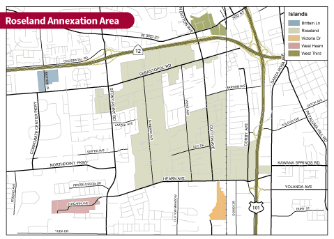 Roseland Annexation Area Map