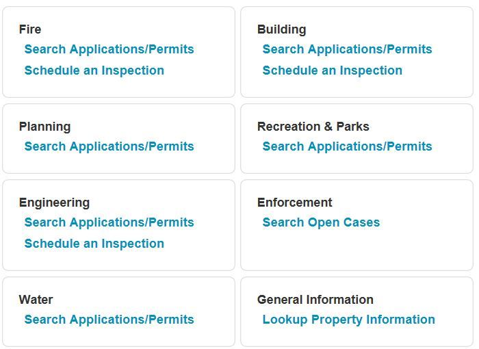 Permit Application Status Search Image