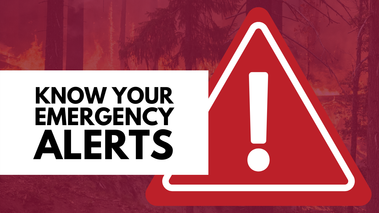 Know Your Emergency Alerts